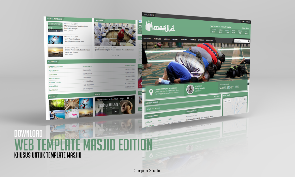 Download Gratis Template Web Masjid