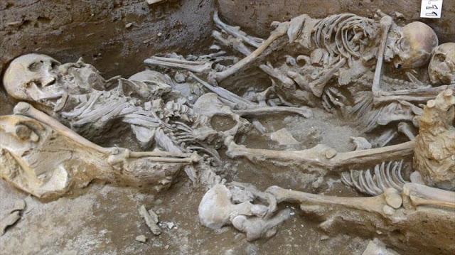Hallan en Perú restos de un ritual de sacrificio humano milenario
