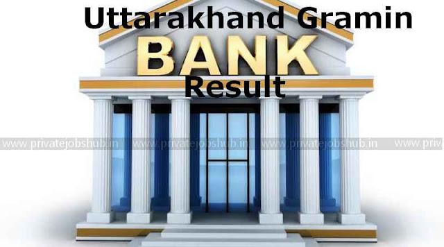 Uttarakhand Gramin Bank Result