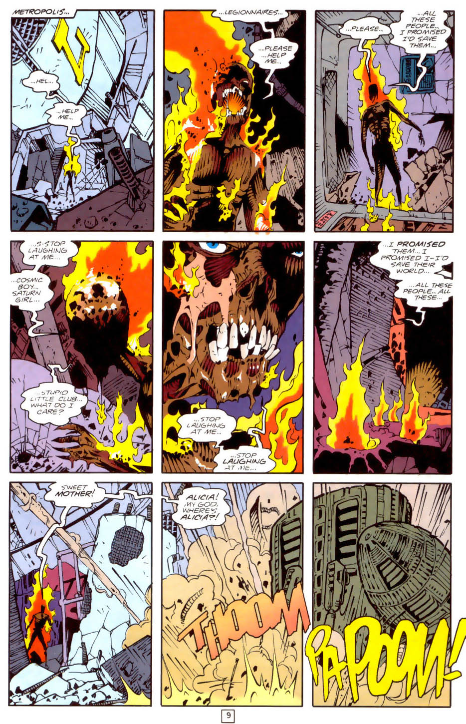 Legion of Super-Heroes (1989) 35 Page 9