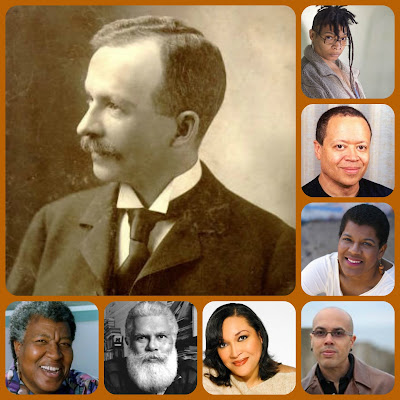 collage of some African American science fiction/fantasy writers mentioned in the blog article