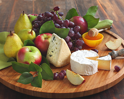 fruit and cheese snack