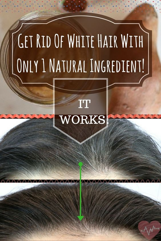 Get Rid Of White Hair With Only 1 Natural Ingredient! IT WORKS!