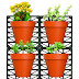 Wall Mounts & 4 Planters-Great for Indoor & Outdoor Walls