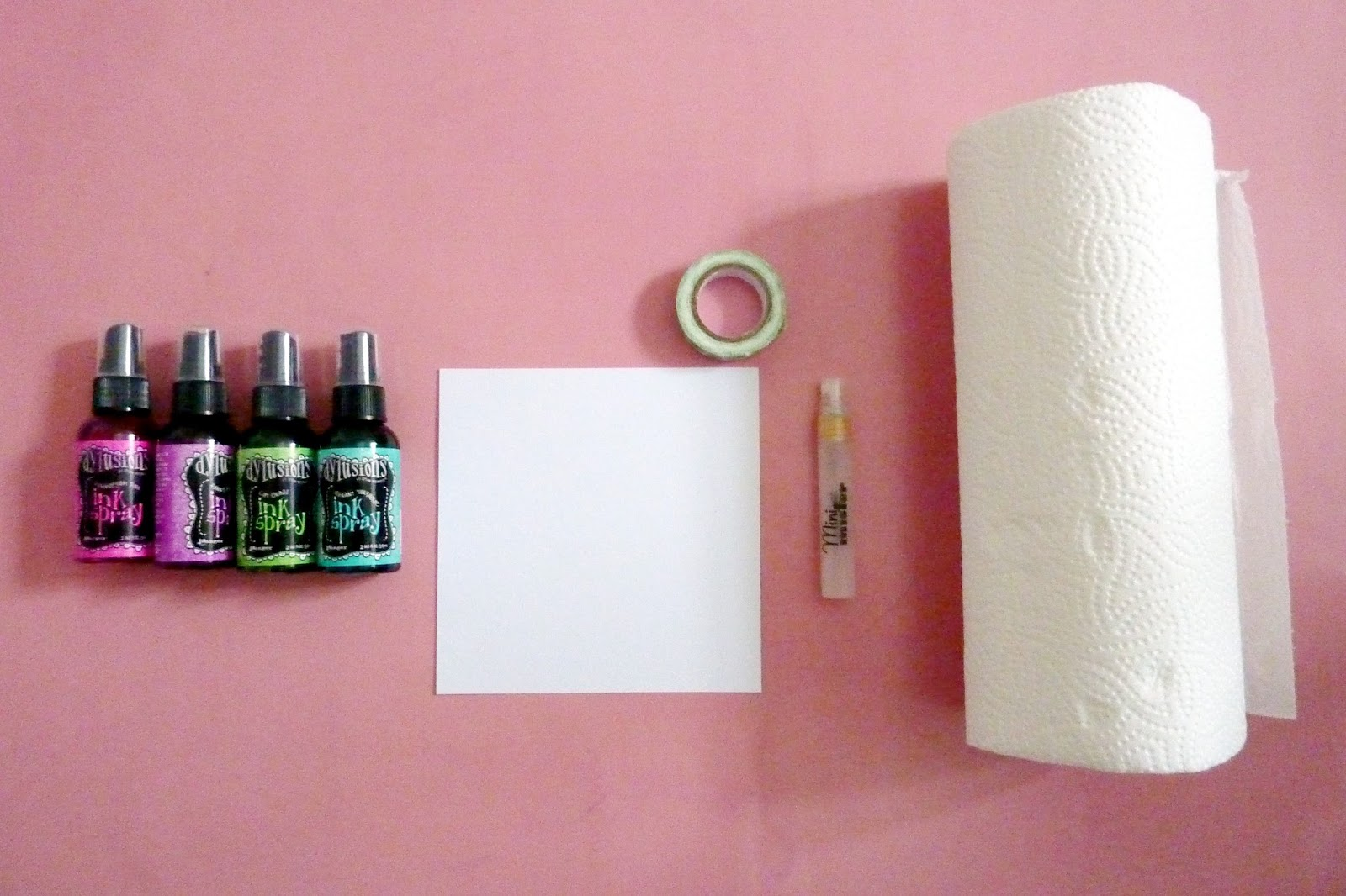 Küchenrolle Material Bits And Pieces Tutorial Dylusions Sprays And Masks