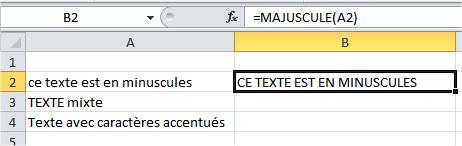 capture d'écran Excel