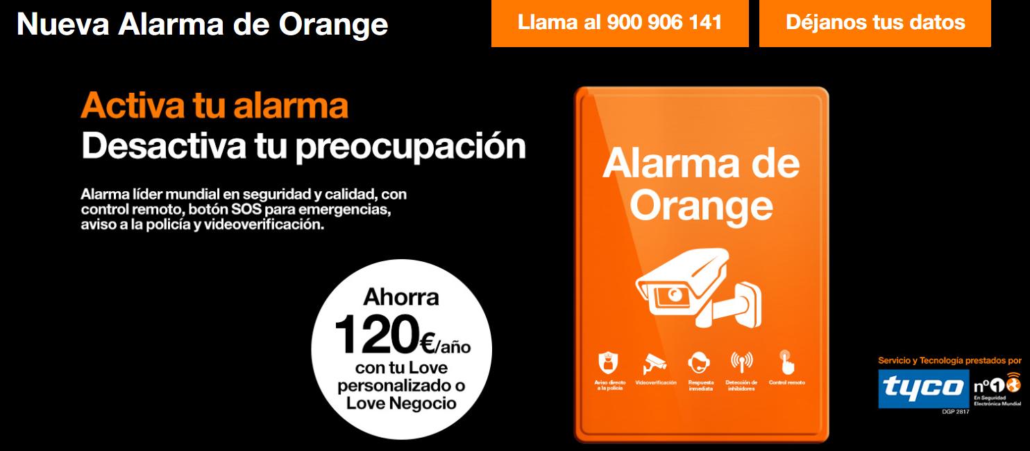 alarma orange tyco