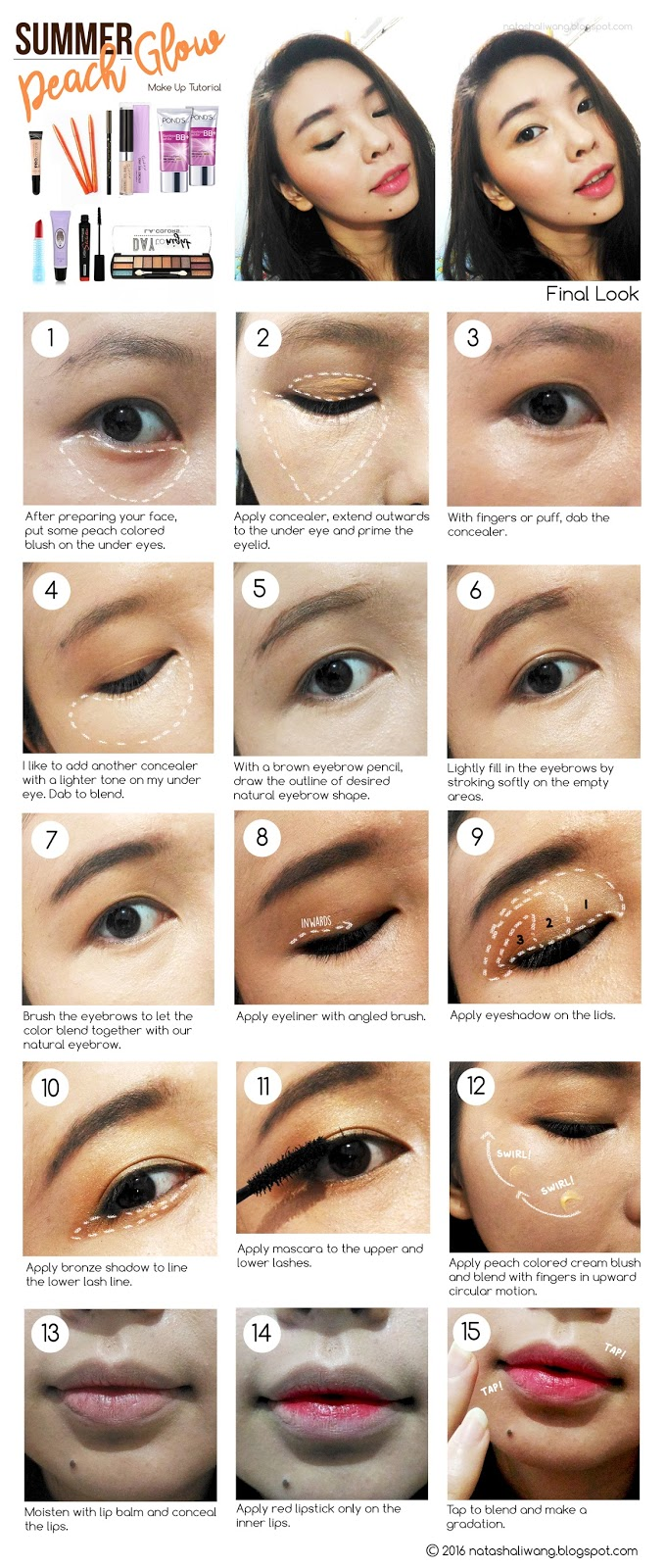How To Apply Makeup For A Natural Look (4) Summer Peach Glow Make Up Guide  Lady On Budget: Make Up Guide: Summer Peach