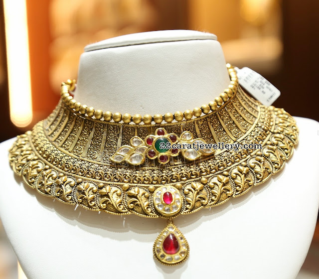 Heavy Bridal Chokers by Malabar Gold and Diamonds