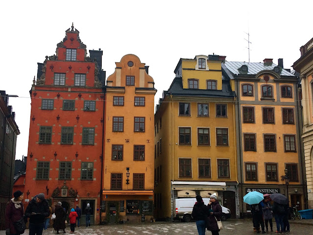 Gamla Stan - colourful buildings