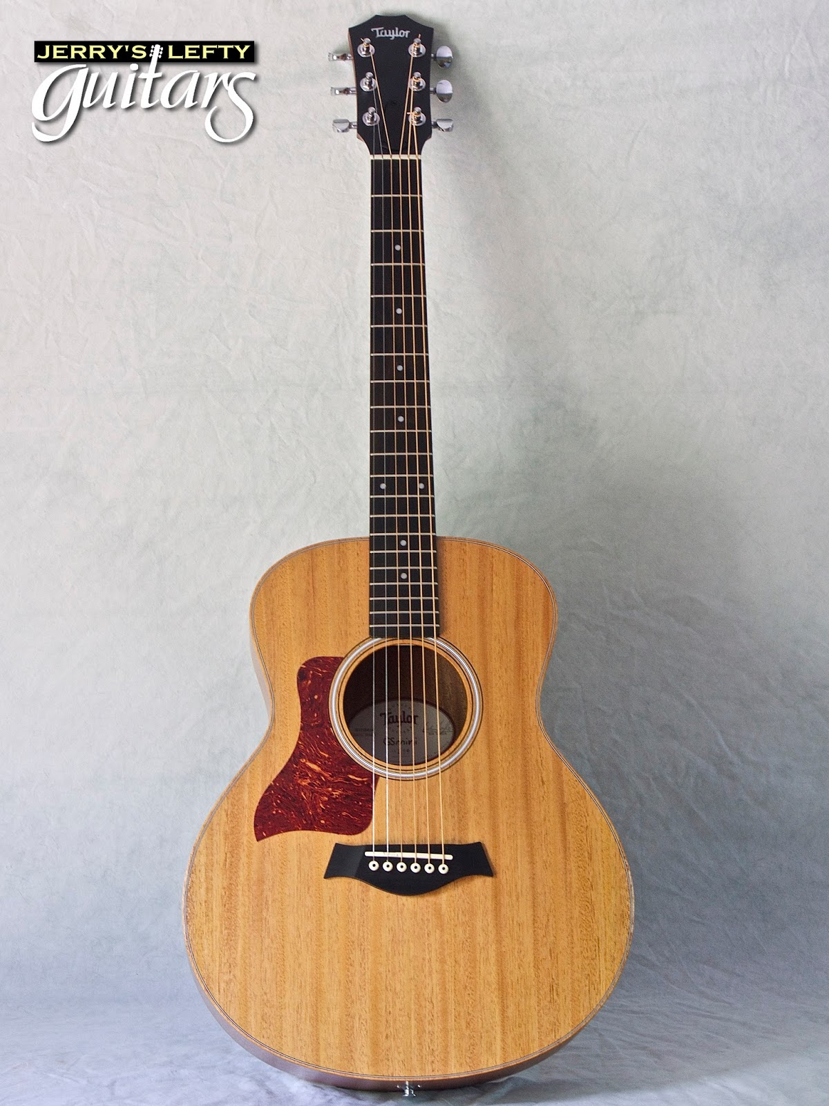 jerry 39 s lefty guitars newest guitar arrivals updated weekly taylor gs mini mahogany used left. Black Bedroom Furniture Sets. Home Design Ideas