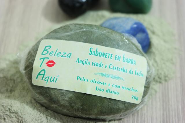 pele oleosa, acne, manchas de pele, sabonete em barra, argila verde, sabonete artesanal, cosmético natural, sabonete em barra argila verde