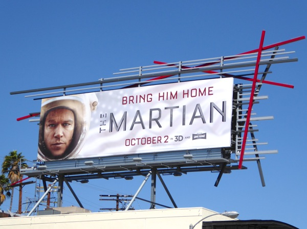 Martian Bring him home billboard