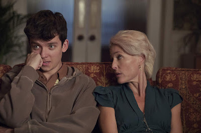 Sex Education Series Asa Butterfield Gillian Anderson Image 2
