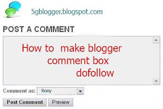 how to dofollow comment box in blogger