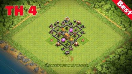 Susunan formasi coc th4 trophy base