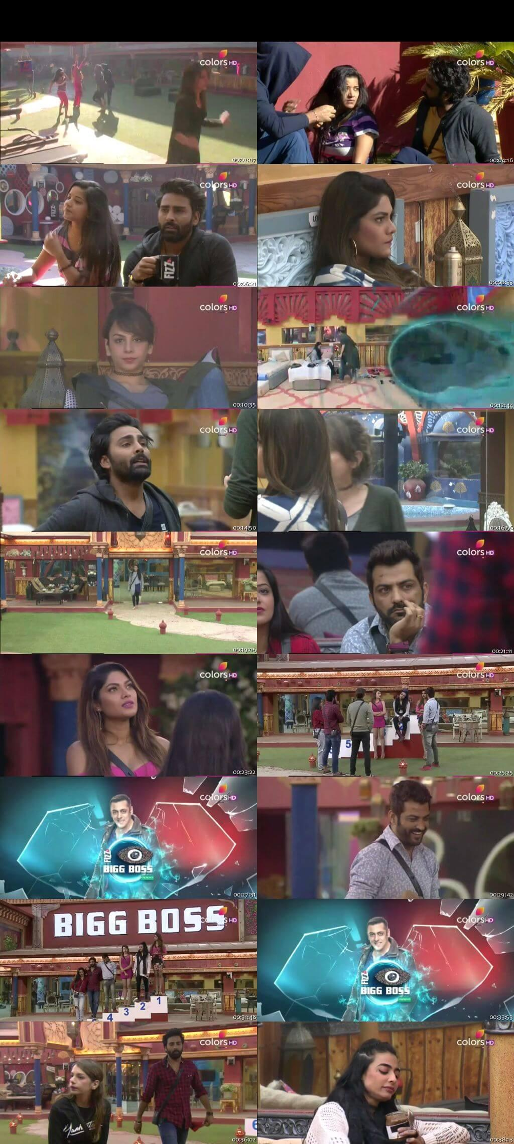Screenshots Of Hindi Show Bigg Boss 10 9th January 2016 Episode 85 300MB 480P HD