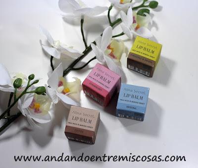 Bálsamos labiales de cosmética natural