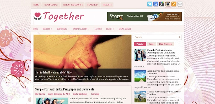 Together Free Blogger Template