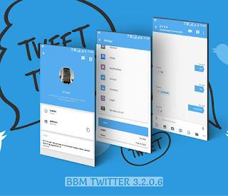 BBM Mod Twitter Versi 3.2.0.6 Apk Tema Baru BBM Android Gratis