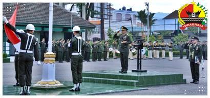 Danrem 032/Wbr Brigjen TNI Mirza Agus sip, Pimpin Upacara Pringatan Hari Lahir Pancasila
