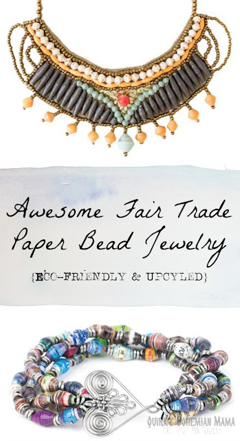 Fair Trade Paper Bead Jewelry {Recycled Eco Friendly Jewelry, Earthy Day, Upcycled Jewelry, Fair Trade Jewelry}   bead for life uganda uganda paper beads african paper beads for sale uganda paper beads wholesale uganda paper beads history beads life bracelets how to make african paper beads Bohemian jewelry Hippie gifts Hippie jewelry