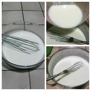 fouetter lait et ferment après refroidissement du lait