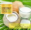 Aria Starr Coconut Milk Body Scrub - Best 100% Natural Skin Care Exfoliator & Moisturizer - 12 OZ