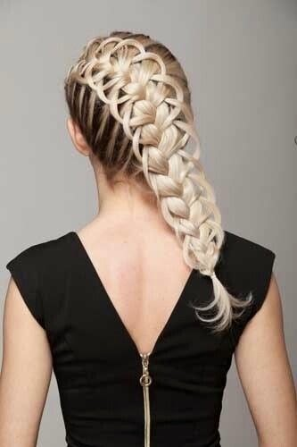 Feather Loop Braid Hairstyle Tutorial The HairCut Web