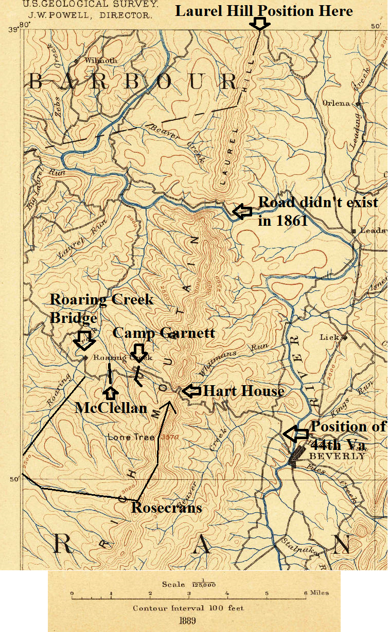 figure 2 1889 topographic map with the salient features of the battle added rosecrans march route is confirmed by his description in his report