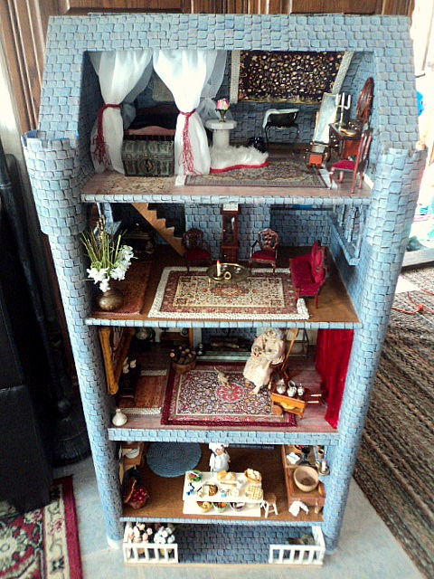 Dresser Turned Into Dollhouse Castle