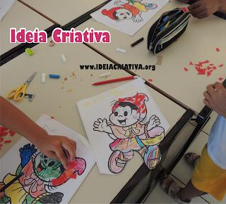 Atividade pintura e colagem com EVA Chapeuzinho Vermelho