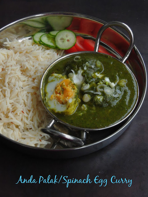 Palak Anda Curry, Spinach Egg Gravy