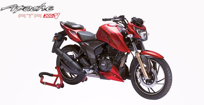 New TVS Apache RTR 200 4V Hd Pictures
