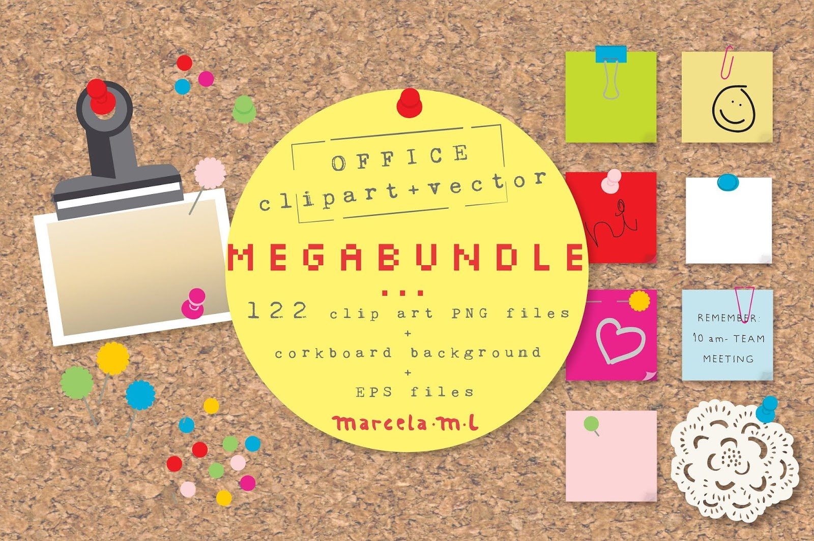 Office Corkboard MockUp Mega Bundle