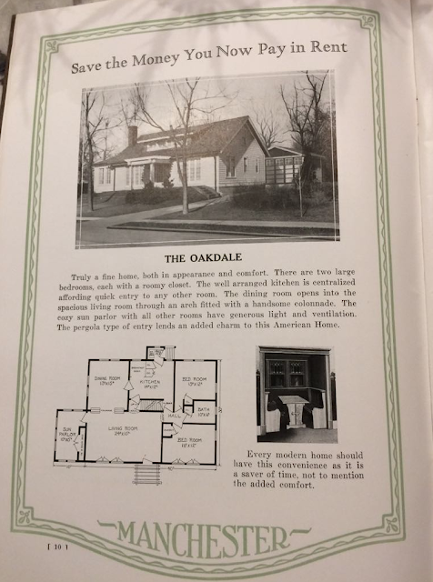 Manchester Buildings Oakdale model full page in 1926 catalog