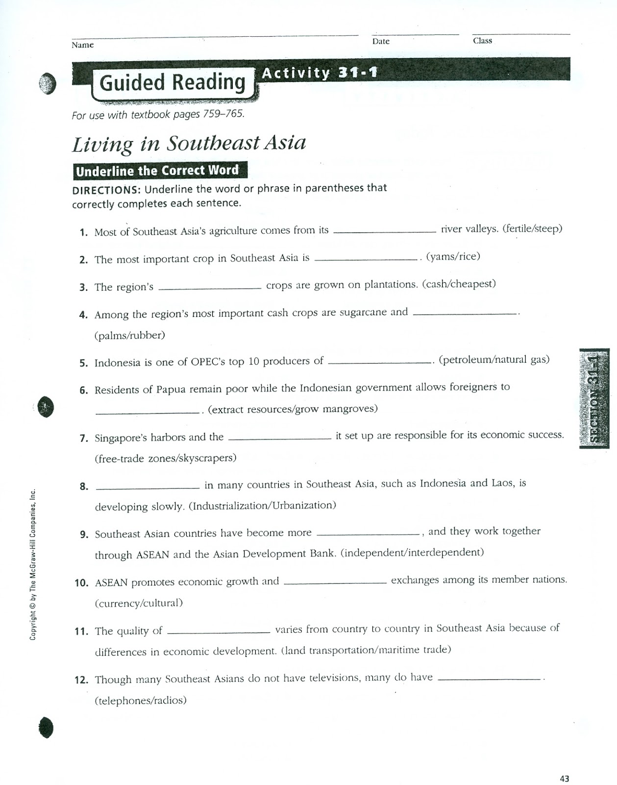 Printables Of Guided Reading Activity 2 1 Economic Systems
