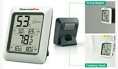 TP50 Digital Thermometer Hygrometer Weather Monitor