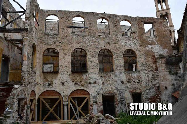 Ξεκίνησαν στο Ναύπλιο οι εργασίες στερέωσης του Ενετικού κτιρίου του Αγίου Γεωργίου (βίντεο)