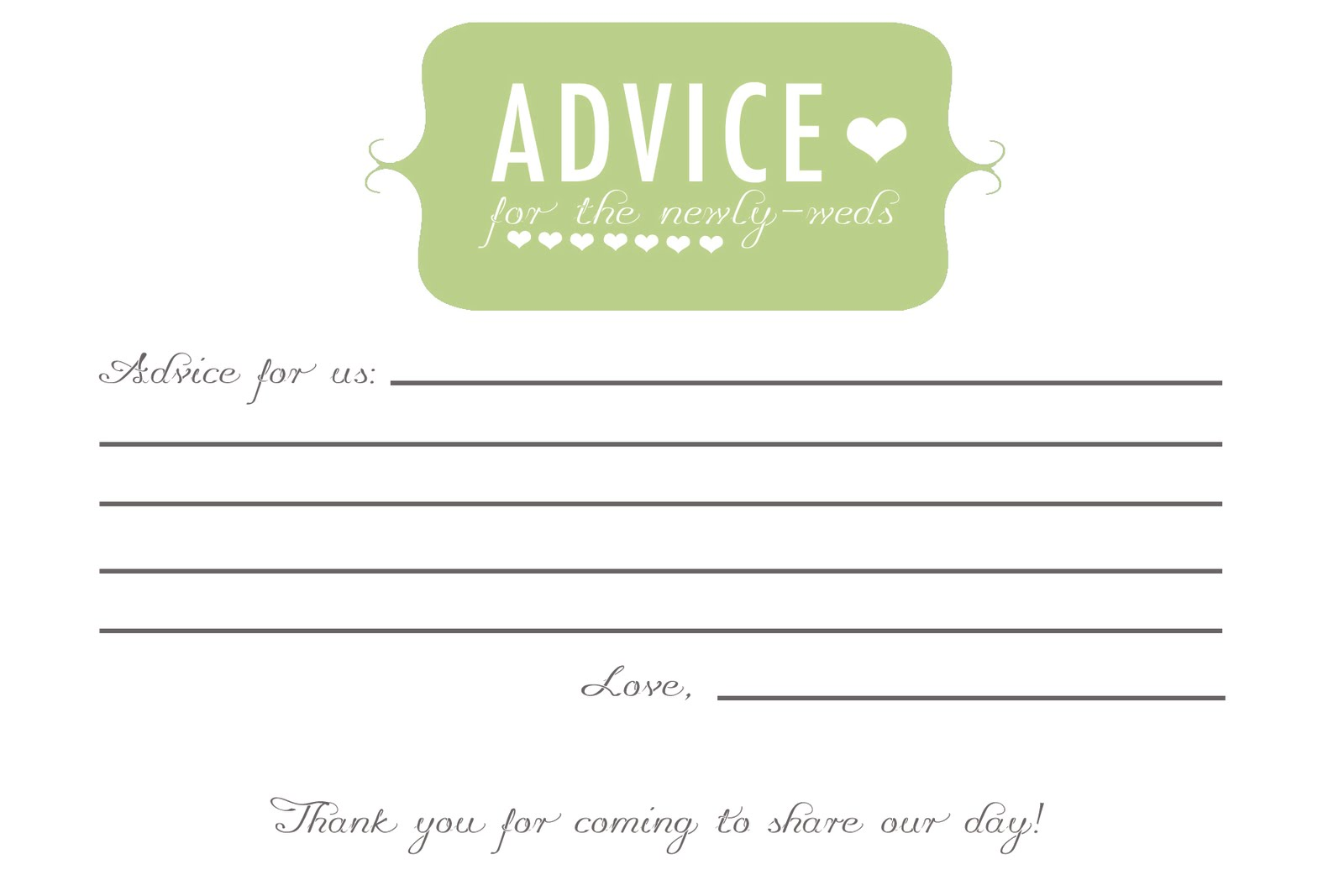 bridal shower advice cards template - free printable words of wisdom game for baby shower hot