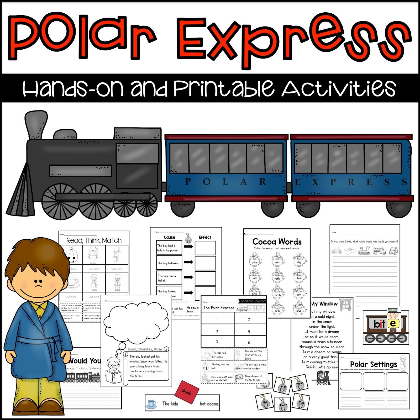 Sarah S First Grade Snippets Polar Express Activities For