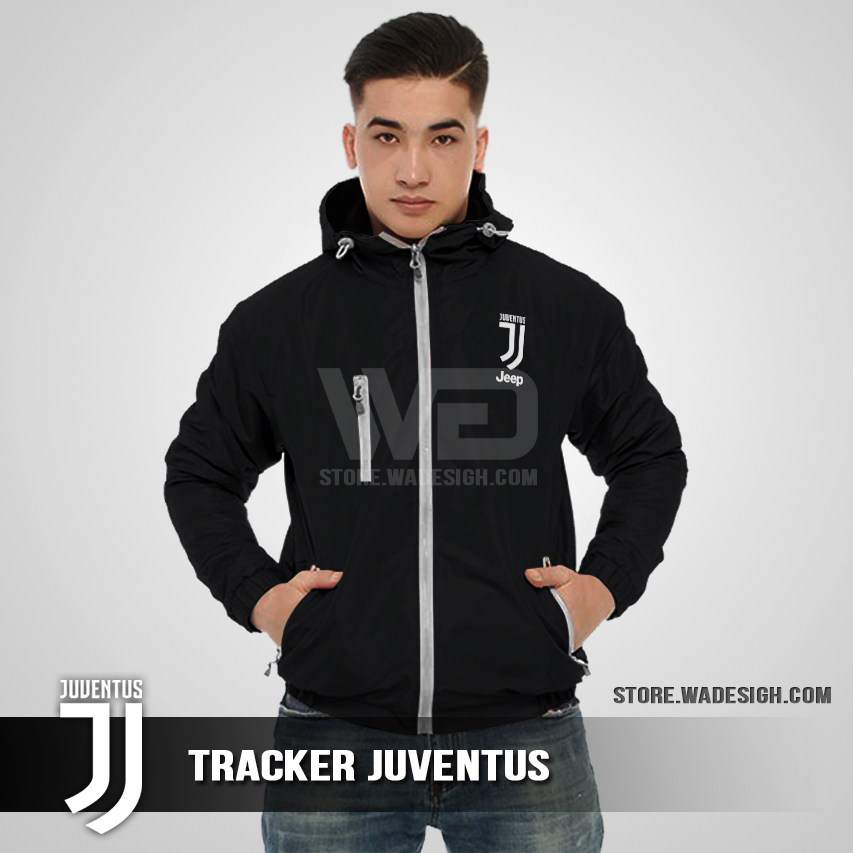 Jaket Tracker Waterproof Juventus