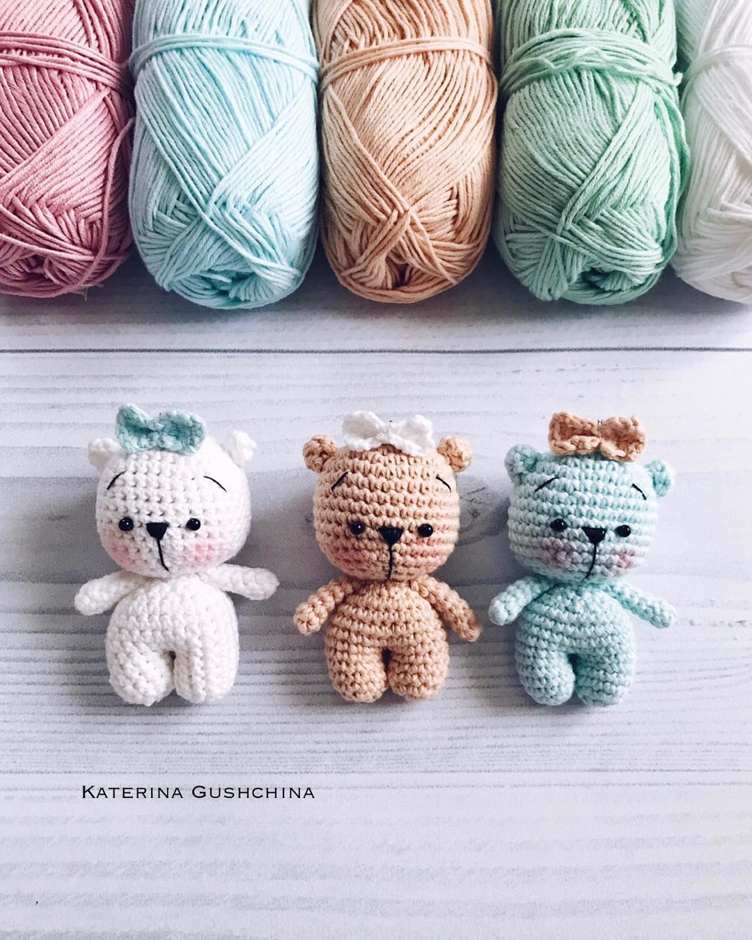 Tiny Teddy Bear Crochet Pattern Amiguroom Toys