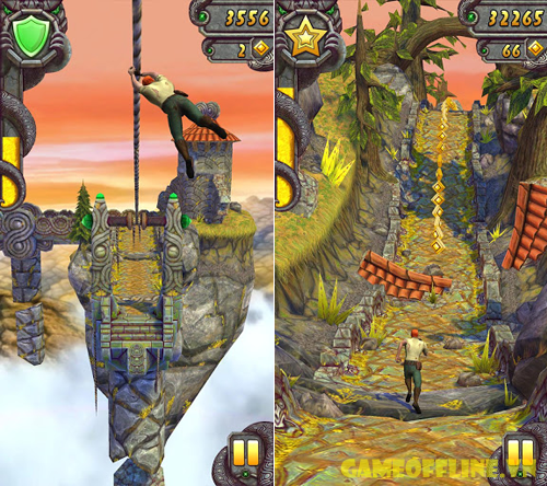 temple run game truy tim bau vat dinh cao