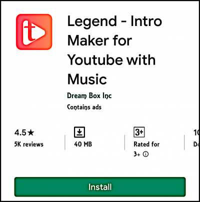 Legend Intro Maker For Youtube With Music Animated Text