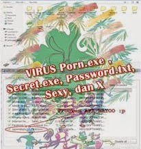 Cara menghapus virus Porn.exe, secret.exe, Password.txt, Sexy dan x.