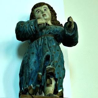 Imagem de São João Batista Menino,  na Igreja Matriz de São Luiz Gonzaga.