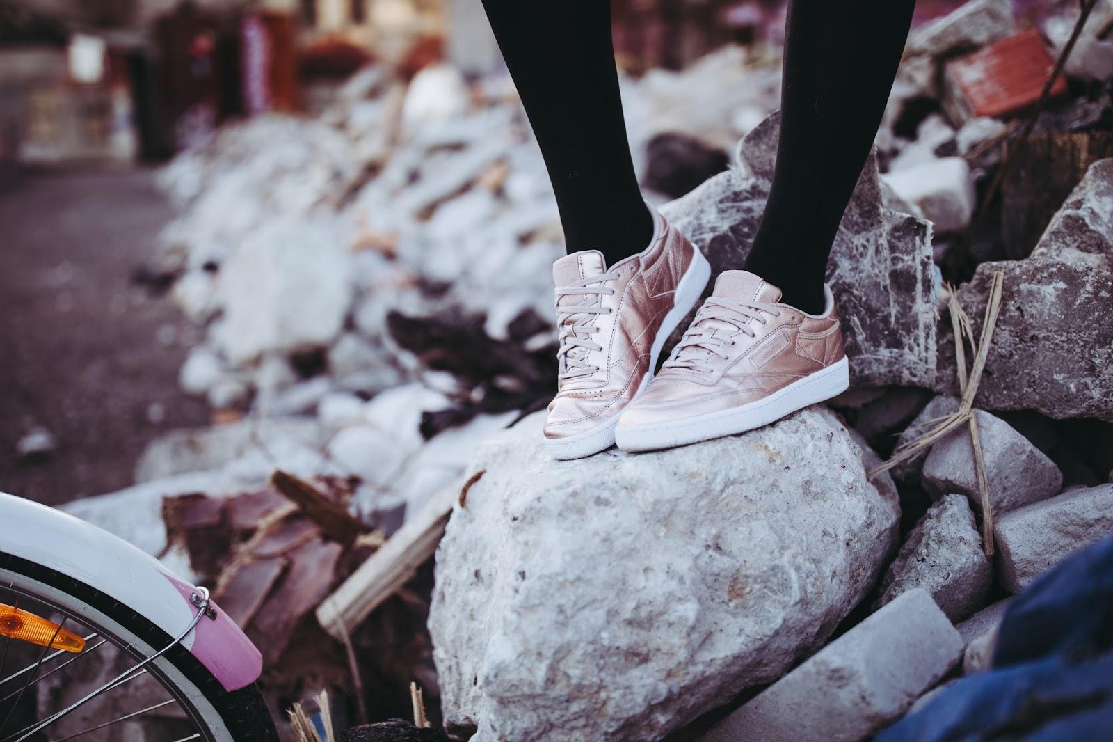 metallic sneakers fall 2017 trend