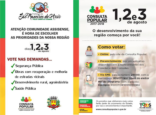 SÃO CHICO: CONSULTA POPULAR 2017 - 2018