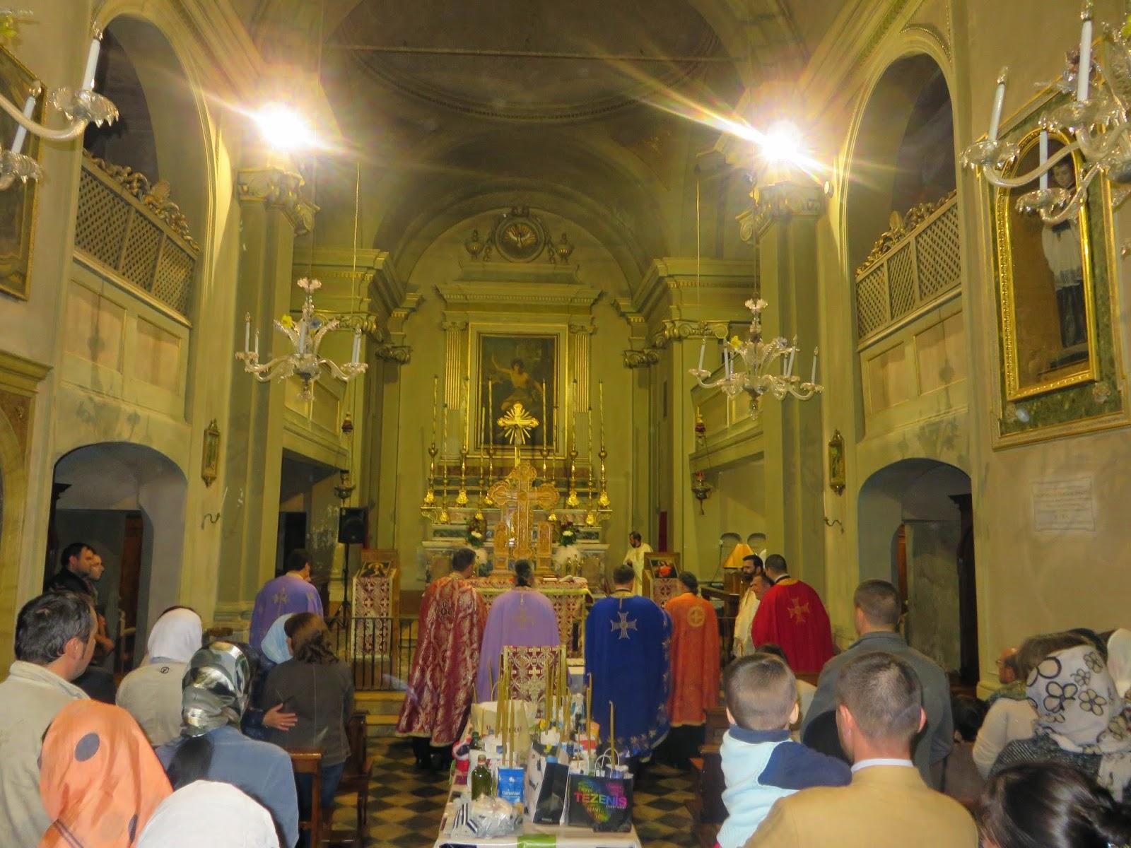 """Taina Sfantului Maslu, Parohia Ortodoxa Romana """"Sfantul Evanghelist Luca"""", Bologna"""